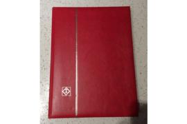 Gebruikt (ZEER NETTE STAAT!) Leuchtturm Luxe LS 4/15 Insteekboek Rood 30 zwarte bladzijden