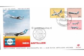 (Palmboom) NVPH E52 A.L.M. Dutch Antillian Airlines 1968