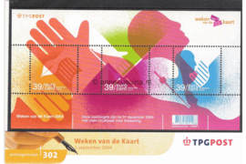 Nederland NVPH M302 (PZM302) Postfris Postzegelmapje Weken van de Kaart 2004
