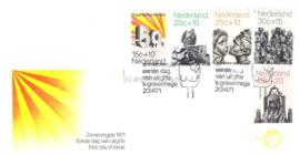 Nederland NVPH E111 Onbeschreven 1e Dag-enveloppe Zomerzegels 1971