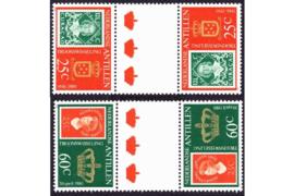 Nederlandse Antillen NVPH 654b-655b Postfris FOTOLEVERING Keerdrukken MET 3 GROTE KRONEN Troonswisseling 1980
