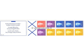 Nederlandse Antillen NVPH PB 4A (links) Postfris Postzegel-/Automatenboekje Type Hartz, 4 x no. 604 + 1 x no. 605 + 2 x no. 608 + 3 x no. 610 (blauw kruis) 1979