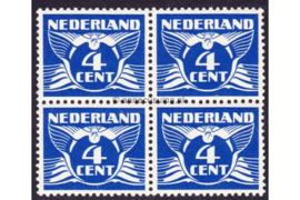 Nederland NVPH 176 Postfris (4 cent) (Blokje van vier) Vliegende duif 1926-1935