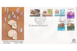 Indonesië Zonnebloem SHP-11/1989 De 100ste verjaardag van de 'Vereniging van de Indonesische Palaeoantropologie' 1989