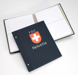 DAVO Standaard FDC album met Landswapen (Klein) met inhoud (Zwitserland)
