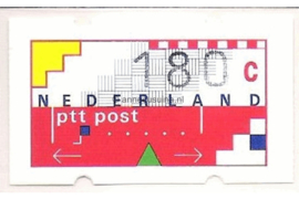 SPECIALITEIT! Nederland NVPH AU18 Postfris MET RUGNUMMER 1570 (180 cent) Automaatstroken, Voordrukzegel voor Klüssendorf-automaat 1996