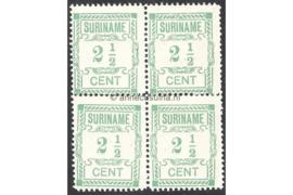 NVPH 66/66a/66a/66a Postfris (2 1/2 cent; Type I en Type II gemengd) (Blokje van vier) Hulpuitgifte 1912