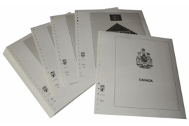Lindner Inhouden / T-Voordruk albumbladen met folie voorbladen met stroken (Inhoud) Canada 1998-2002 (49 bladen) (Lindner 500-98)