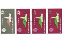 Nederlandse Antillen INHOUD van NVPH PB 2 Postfris Postzegel-/Automatenboekje Type Disberg, 1 x no. 560 + 3 x no. 562 1977