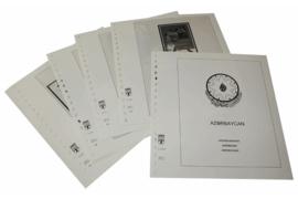 Lindner Inhouden / T-Voordruk albumbladen met folie voorbladen met stroken (Inhoud) Azerbeidzjan 1998-2003 (21 bladen) (Lindner 258-98)