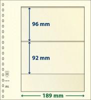 Lindner T-Blanco blad met 2 stroken (Lindner 802201) (per stuk)