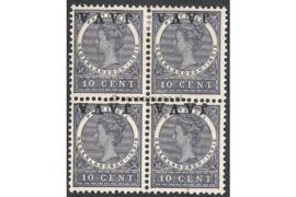 NVPH 70f Postfris (2) Ongebruikt (2) FOTOLEVERING in blokje van 4 (10 cent) JAVA Kopstaand 1908