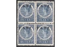 NVPH 71f Postfris (2) Ongebruikt (2) FOTOLEVERING in blokje van 4 (12 1/2 cent) JAVA Kopstaand 1908
