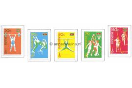Zonnebloem 210-214 Postfris Ter gelegenheid van de Olympische Zomerspelen te Moskou 1980