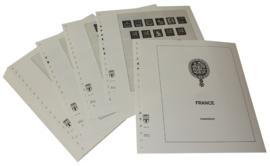 Lindner Inhouden / T-Voordruk albumbladen met folie voorbladen met stroken (Inhoud) Frankrijk 1960-1971 (43 bladen) (Lindner 132)