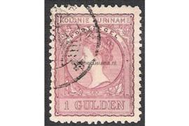 Kleurafwijking! Roze NVPH 56 Gestempeld FOTOLEVERING (1 gulden) Koningin Wilhelmina (Veth) 1907