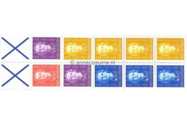 Nederlandse Antillen INHOUD van NVPH PB 4A (rechts) Postfris Postzegel-/Automatenboekje Type Hartz, 4 x no. 604 + 1 x no. 605 + 2 x no. 608 + 3 x no. 610 (blauw kruis) 1979