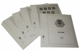 Lindner Inhouden / T-Voordruk albumbladen met folie voorbladen met stroken (Inhoud) Estland 1991-2009 (49 bladen) (Lindner 175)