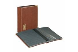 "Lindner Insteekalbum Royal (24 blz.) zwarte bladen ""Koningsbruin"" (Lindner 1150-H)"