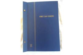 In nette staat! Gebruikt Importa FDC Nederland album Donker Blauw P.S. III met Luxe Glossy Bladen