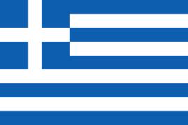 Velletje met vlaggen Griekenland 72 stuks