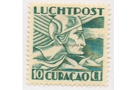 Curaçao NVPH LP4 Ongebruikt (10 cent) Mercuriuskop 1931-1939