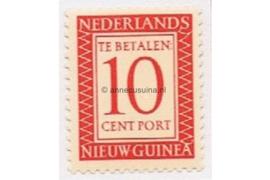 Nederlands Nieuw Guinea NVPH P3 Postfris (10 cent) Cijfer en waarde in rechthoek 1957