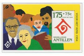 Nederlandse Antillen NVPH 1077 Postfris Blok Kinderzegels 1994