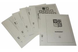 Lindner Inhouden / T-Voordruk albumbladen met folie voorbladen met stroken (Inhoud) Saargebied 1920-1934 (17 bladen) (Lindner 245)