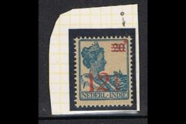 NVPH 171 Ongebruikt FOTOLEVERING  (12 1/2 cent overdruk) Hulpuitgifte, opdruk in rood 1930 met rode punt in rechter bovenhoek
