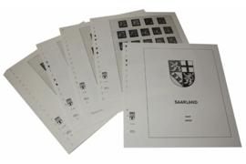 Lindner Inhouden / T-Voordruk albumbladen met folie voorbladen met stroken (Inhoud) Saarlanden 1947-1959 (21 bladen) (Lindner 246)