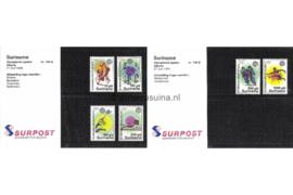 Republiek Suriname Zonnebloem Presentatiemapje PTT nr 108A en 108B Postfris Postzegelmapje Olympische Centennial Zomerspelen in Atlanta met afbeeldingen van diverse sporten 1996