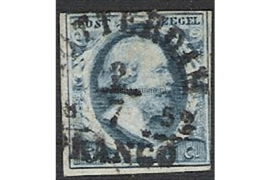 ROTTERDAM Klein B (Ey 50) b1 / 2 juli 1852 (!)  op NVPH 1 FOTOLEVERING