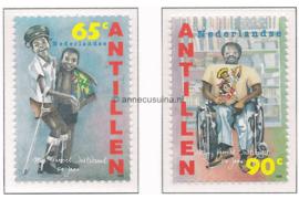 Nederlandse Antillen NVPH 1083-1084 Postfris 50 jaar Mgr. Verriet Instituut 1995
