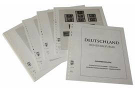 Lindner Inhouden / T-Voordruk albumbladen met folie voorbladen met stroken (Inhoud) Combinaties 1951-1994 (45 bladen) (Lindner 120BZ)