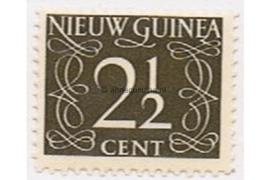 Nederlands Nieuw Guinea NVPH 3 Postfris ( 2 1/2 cent) Cijfer van Krimpen 1950