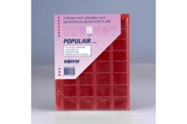 Importa Populair SETJE VAN: 4 x 32 Vaks Muntbladen met schuifjes & 4 Rode Schutbladen (Importa 0818r)