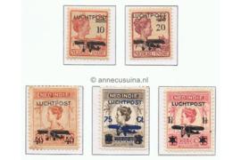NVPH LP1-LP5 Gestempeld Frankeerzegels der uitgifte 1913-1931/2 met zwarte opdruk