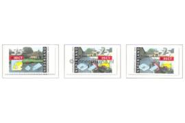 NVPH 1471a-1471c Postfris Twee of drie zijden ongetand, afkomstig uit boekje (PB41) Zomerzegels 1991