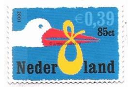 Nederland NVPH 1985 Postfris (Doorgestanst) (0,39/0,85) Geboortezegel in dubbele waarde 2001
