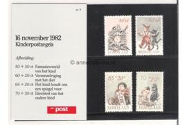 Nederland NVPH M9 (PZM9) Postfris Postzegelmapje Kinderzegels 1982