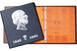Hartberger Blauw Luxe Voordrukalbum Willem 1849-1890 deel 3