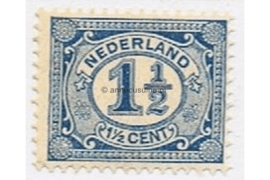 Nederland NVPH 53 Gestempeld (1 1/2 cent) Cijfer Vürtheim 1899-1913