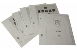 Lindner Inhouden / T-Voordruk albumbladen met folie voorbladen met stroken (Inhoud) Cyprus 1880-1955 (11 bladen) (Lindner 294)