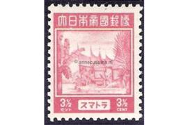 Sumatra NVPH JS4 (3 1/2 cent) Ongebruikt Frankeerzegels 1943-1944