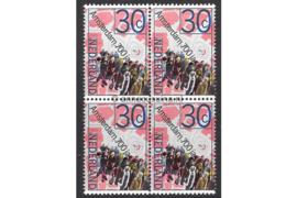 Nederland NVPH 1064 Postfris (30 cent) (Blokje van vier) Jubileumzegels 1975