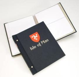 DAVO Standaard FDC album met Landswapen (Klein) met inhoud (Isle of Man)