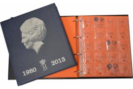 Hartberger Blauw Luxe Voordrukalbum Beatrix 1980-2001 deel 1