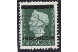 Indonesië Zonnebloem 4B / NVPH 354a Gestempeld FOTOLEVERING (40 cent) Hulpuitgifte. Opdruk Indonesië in zwart op zegels der uitgifte 1945 en 1948 1948-1949