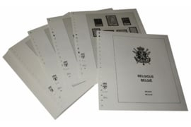 Lindner Inhouden / T-Voordruk albumbladen met folie voorbladen met stroken (Inhoud) België 1981-1989 (40 bladen) (Lindner 127-81)